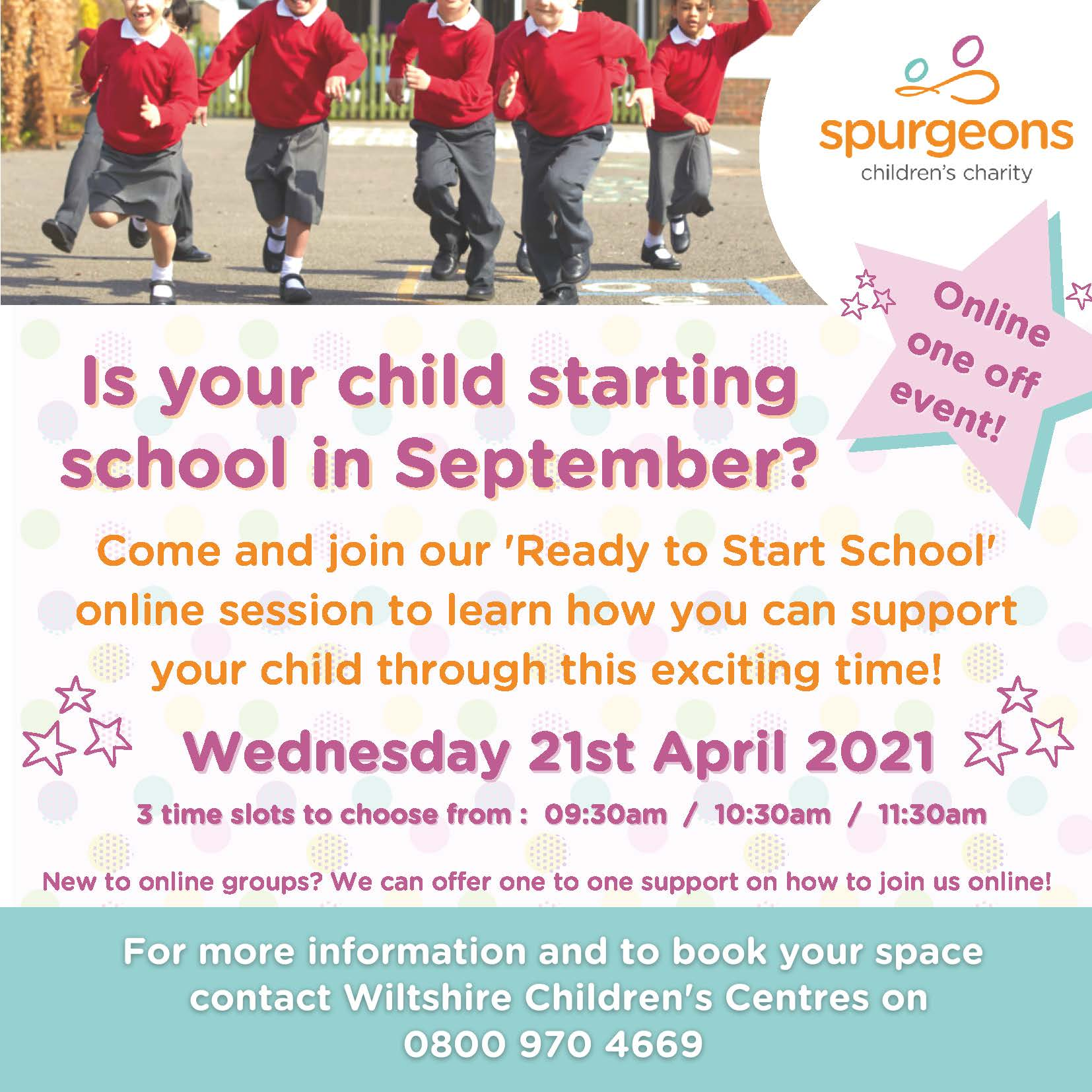 Ready to Start School poster April 2021